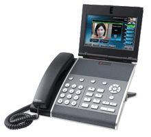 Téléphone multimédia professionnel Polycom VVX 1500.