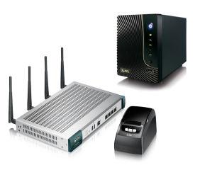 Solution HotSpot 802.11 a/b/g/n double radio, 100 utilisateurs (extensible à 200 utilisateurs), firewall, contrôleur Wifi 8 bornes max. (nécessite licence ZY-ICUAG21008AP ), gestion SMS (nécessite licence ZY-UAG2100SMS), multi device (livré avec impriman