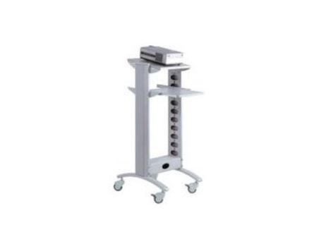 PROTECH VP trolley 2 shelves - silver