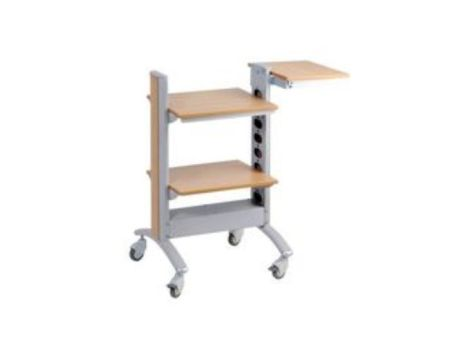 PROTECH mobile trolley silver/maple