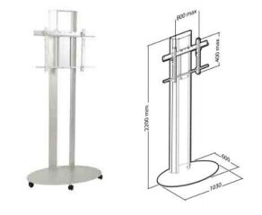 PlasmaTech stand 220 cm silver