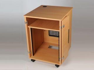 """Wooden cupboard 19"""" - black/maple"""