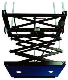 Support noir motorisé avec pantographe, poids de charge 30 kg, longueur 300 cm, 3 fins de course, gamme LIFT VP