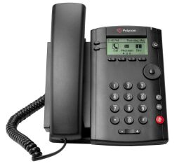 VVX 101 1-line Desktop Phone with single 10/100 Ethernet port. PoE only. Ships without power supply.