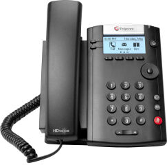 Microsoft Skype for Business/Lync edition VVX 201 2-line Desktop Phone with HD Voice, dual 10/100 Ethernet ports and Polycom UCS SfB/Lync License. Ships without power supply.